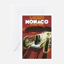 Monaco Race Car Greeting Card