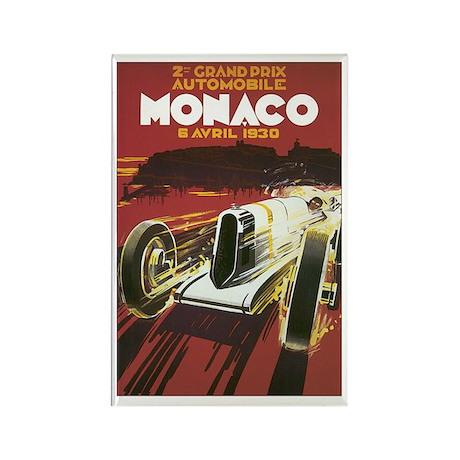 Monaco Race Car Rectangle Magnet