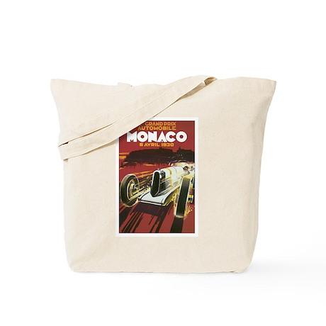 Monaco Race Car Tote Bag