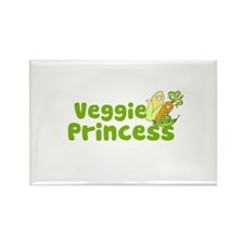 Veggie Princess Rectangle Magnet