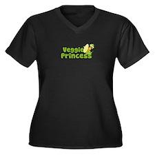 Veggie Princess Women's Plus Size V-Neck Dark T-Sh