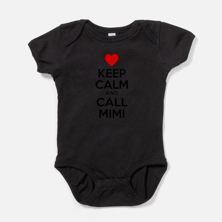 Cute Keep calm and cuddle mimi grandmother Baby Bodysuit