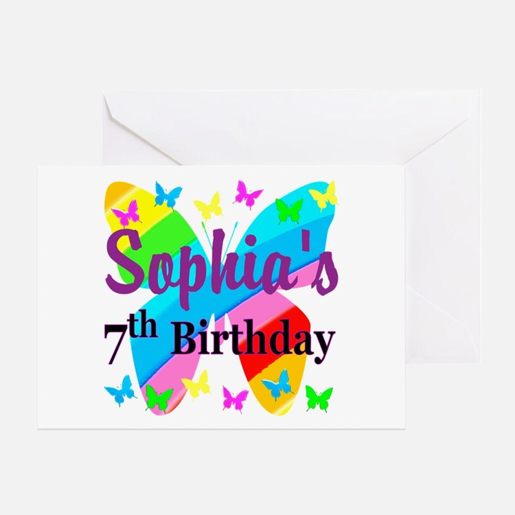 7Th Birthday 7th Birthday Greeting Cards
