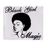 African american girl Fleece Blankets