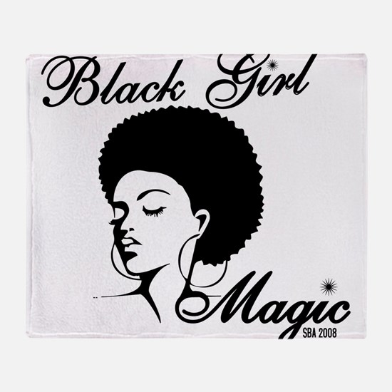 Black Girl Magic Throw Blanket