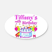 HAPPY 7TH Oval Car Magnet