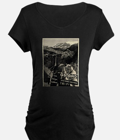 Vintage poster - Switzerland Maternity T-Shirt