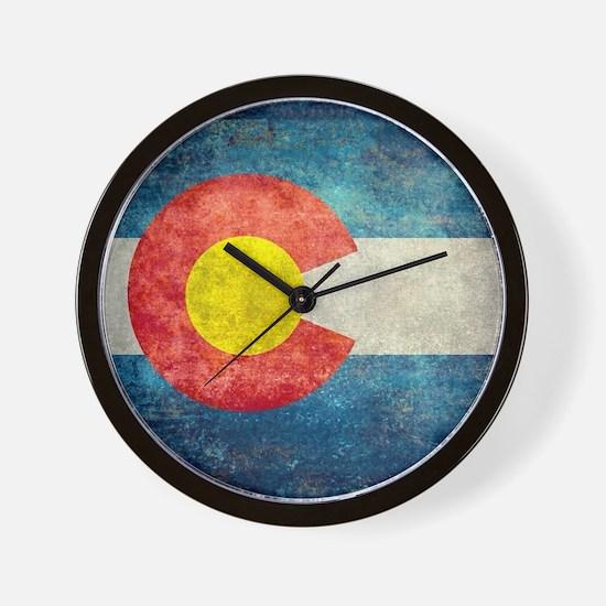 (B) Colorado State Flag Wall Clock
