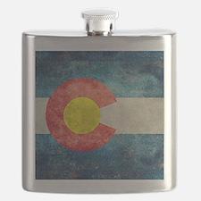 (B) Colorado State Flag Flask