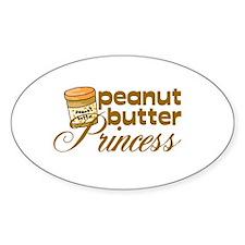 Peanut Butter Princess Oval Decal