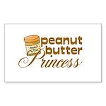 Peanut Butter Princess Rectangle Sticker