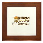 Peanut Butter Princess Framed Tile