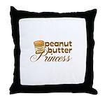 Peanut Butter Princess Throw Pillow