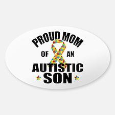 Autism Mom Sticker (Oval)