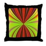 Red Drapery Fractal Throw Pillow