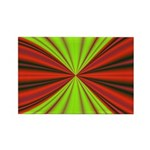 Red Drapery Fractal Rectangle Magnet (100 pack)