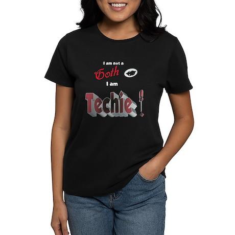 I am not a Goth Women's Black T-Shirt