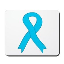 Light Blue Ribbon Mousepad