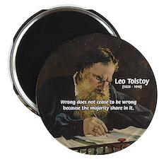 Leo Tolstoy: True Philosophy Magnet