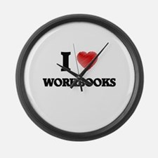 I love Workbooks Large Wall Clock