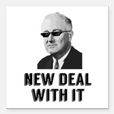 """New Deal With It Square Car Magnet 3"""" x 3"""""""