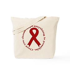Burgundy Hope Tote Bag