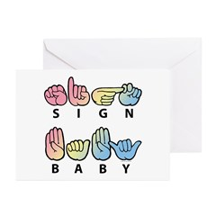 Sign Baby Captioned Greeting Cards (Pk of 20)