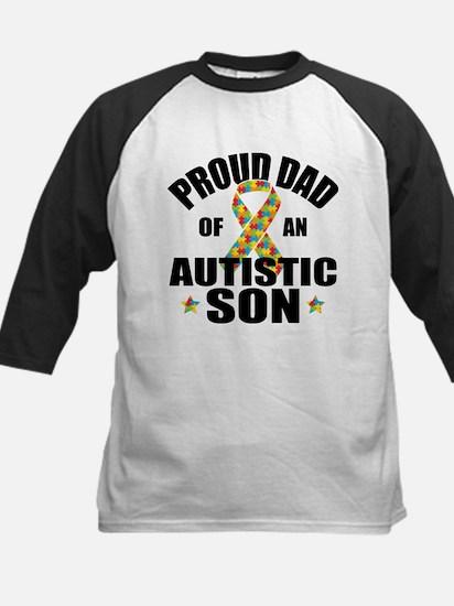 Autism Dad Kids Baseball Jersey