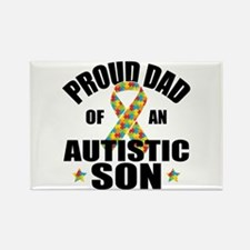 Autism Dad Rectangle Magnet (10 pack)