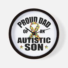 Autism Dad Wall Clock