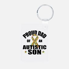 Autism Dad Aluminum Photo Keychain