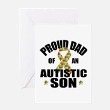 Autism Dad Greeting Card