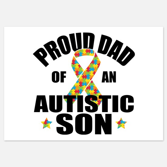 Autism Dad 5x7 Flat Cards