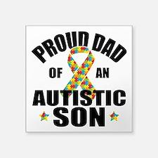 """Autism Dad Square Sticker 3"""" x 3"""""""
