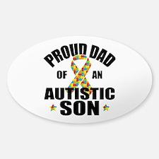 Autism Dad Sticker (Oval)