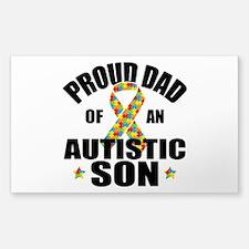 Autism Dad Sticker (Rectangle 10 pk)