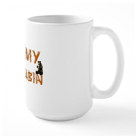 """""""I Love My Log Cabin"""" Large Mug"""