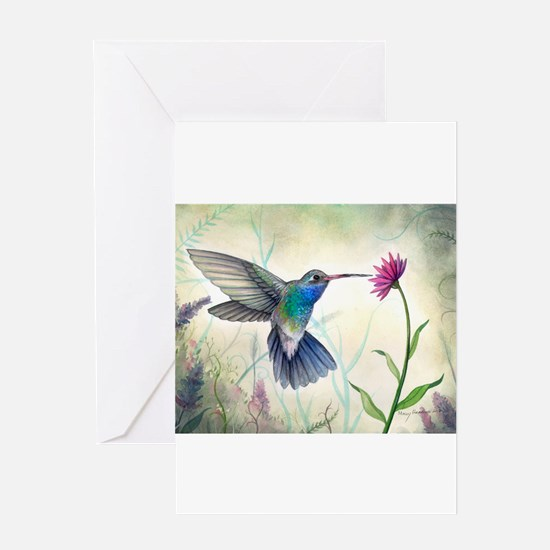 Sweet Nectar Hummingbird Greeting Cards