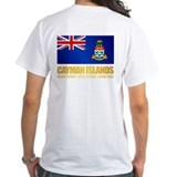Cayman islands Mens White T-shirts
