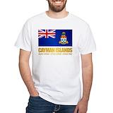 Cayman islands Mens Classic White T-Shirts
