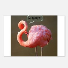 Friday Flamingo Postcards (Package of 8)