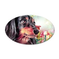 Dachshund Painting Wall Decal