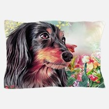 Dachshund Painting Pillow Case