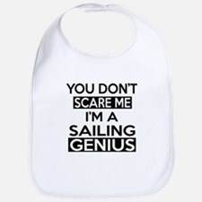 I Am Sailing Genius Bib