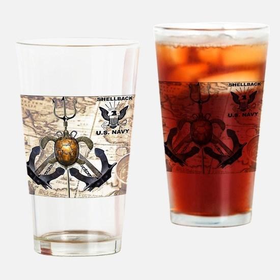 US Navy Shellback Drinking Glass