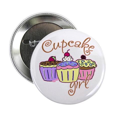 Cupcake Girl Button