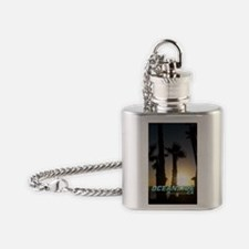 Cute Oceanside california Flask Necklace