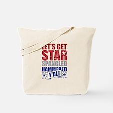 Lets Get Star Spangled Hammered Yall VINTAGE Tote