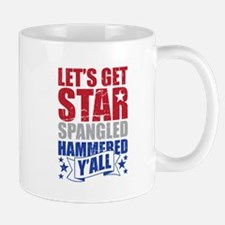 Lets Get Star Spangled Hammered Yall VINTAGE Mugs