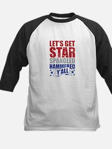 Lets Get Star Spangled Hammered Yall VINTAGE Baseb